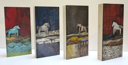 4 wood panels