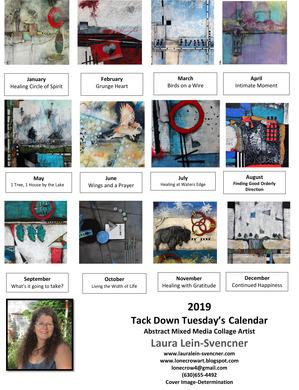 2019 Calendar sheet