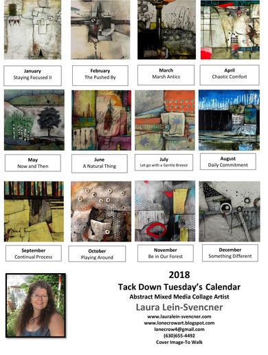 2018 Calendar sheet