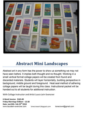 Abstract Mini Landscapes flyer